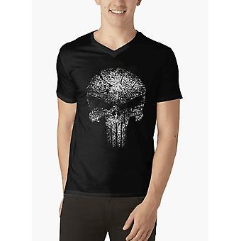 Glow in the dark v-neck t-shirt