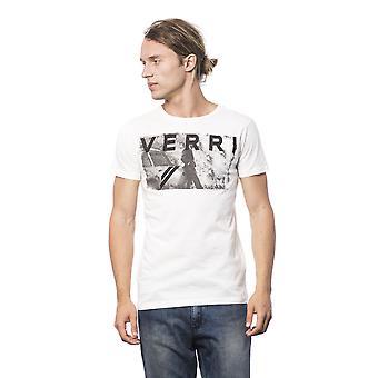 Heren White Verri Korte Mouwen T-shirt