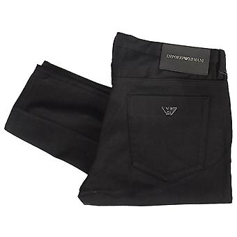 Emporio Armani J11 Skinny Fit Denim Jet Black Jeans