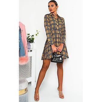 IKRUSH Womens Hetty tartan shirt-jurk