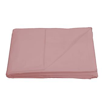 Flat Sheet Bed Linen Bedding Soft Easy Care Cotton Blend - Pink - Double