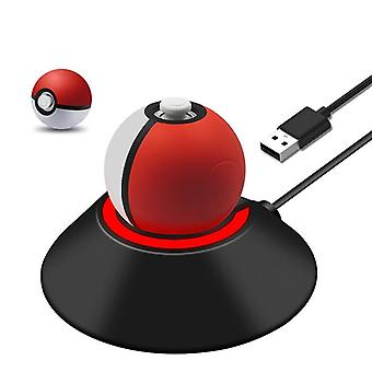 Charging stand for nintendo switch pokeball plus controller usb connection - black | zedlabz