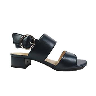 Caprice 28202 Navy Leather Womens Slingback Sandals