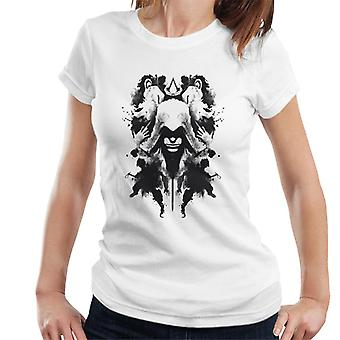 Assassin's Creed Ezio Ink Blot Rorschach Women's T-Shirt