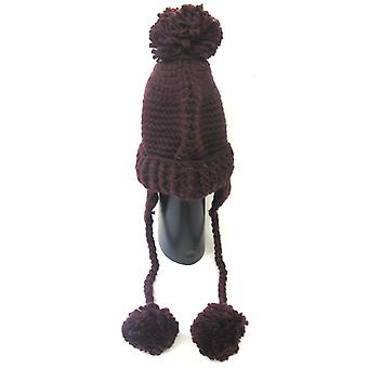 Ladies RJM Knitted Bobble Hat With Tassels GL478