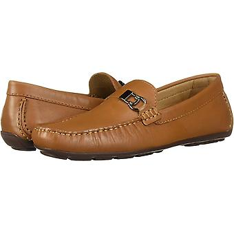 Driver Club USA Men's Leather Made in Brazil Side Metal Detail Driving Loafer