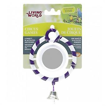 Viver mundo circo espelho púrpura (aves, acessórios de gaiola de pássaro, espelhos)