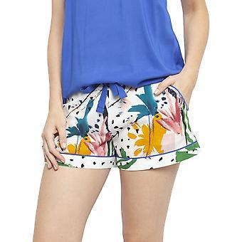 Cyberjammies 4441 Women's Alicia White Abstract Print Cotton Pyjama Short