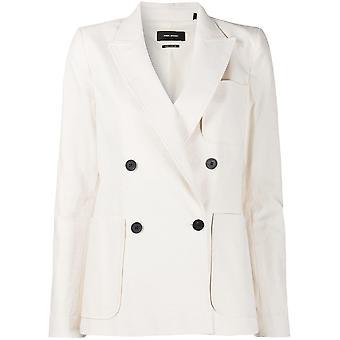 Isabel Marant Ve130120p043i23ec Women's White Cotton Blazer