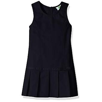 Classroom School Uniforms Girls' Big Pleated Bow Jumper, Navy Blue, 14.0