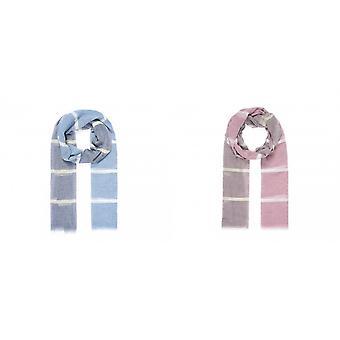 Intrigue Womens/dames rayé couleur bloc écharpe