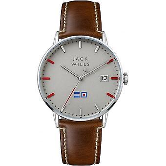 Jack Wills Watches Jw002brss Men's Batson Brown Leather Strap Watch