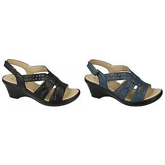 Eaze Womens/Ladies Cut Out Detail Sling back Sandals