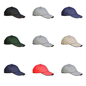 Result Unisex Low Profile Heavy Brushed Cotton Baseball Cap With Sandwich Peak