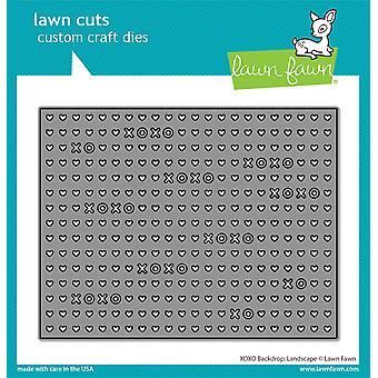 Lawn Cuts Custom Craft Die -XOXO Backdrop: Landscape