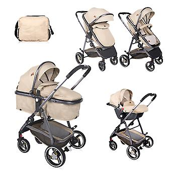 Lorelli Combi stroller Sola 3 in 1 set car seat sports seat carrying bag, foldable