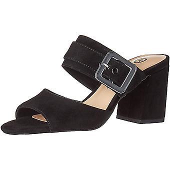 Bella Vita Women's Tory Dress Sandal Shoe, Black Kidsuede Leather, 8 2W US