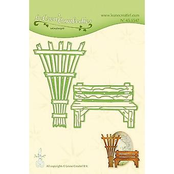 LeCrea Lea'bilitie Cut and Embossing Die - Garden Bench & Trellis