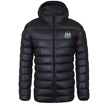 Newcastle United FC Official Football Gift Mens Quilted Hooded Winter Jacket