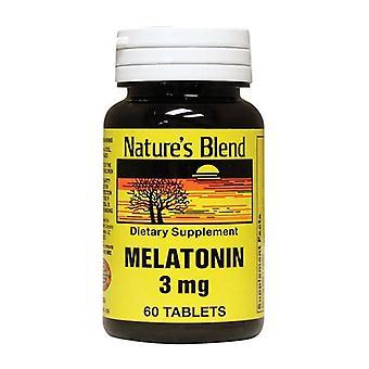 Naturens blandning melatonin, 3 mg, tabletter, 60 ea