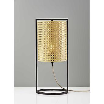 Pitkä muodikas cane shade pöytä lyhty lamppu