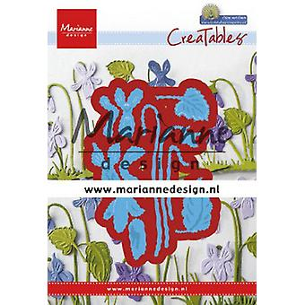 Marianne Design Creatables Cutting Dies - Petra's Violets LR0649 63.5x90.5mm