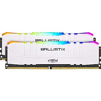 Crucial Ballistix BL2K16G32C16U4WL RGB, 3200 MHz, DDR4, DRAM, Fixed Computer Gaming Kit, 32 GB (16 GB x2), CL16, White