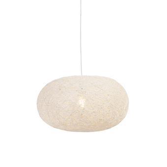 QAZQA Rural hanging lamp white 50 cm - Corda Flat