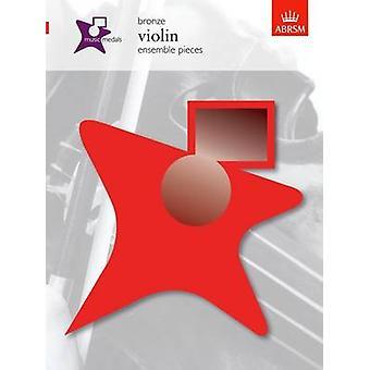 Muziek medailles bronzen viool ensemble stukken door componist ABRSM