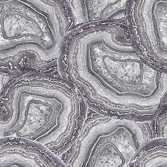 Mineraler Agate tapet ametist och grå Arthouse 904000