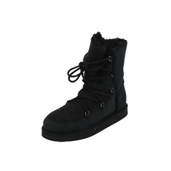 UGG ELISS Kids Girls Boots Black Lace-Up Boots Winter