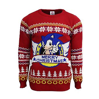 Officiële Classic Sonic de egel kerst Jumper / lelijke trui