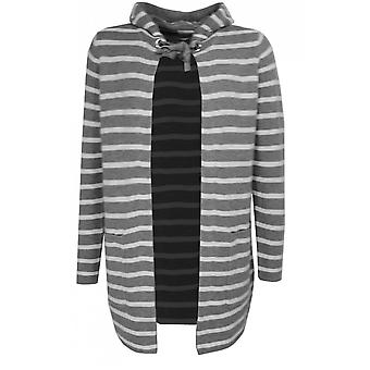 Taifun Grey & White Striped Cardigan