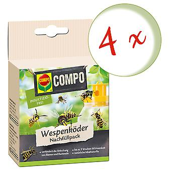 Sparset: 4 x COMPO Wasp Feller Agn Refill Pack, 3 Stk.