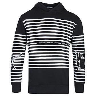 True Religion Buddha Stripe Black Pullover Hoodie