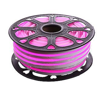 Jandei Tira LED NEON flexible 25m, Color luz rosa magenta 12VDC 8 * 16mm, corte 2,5cm, 120 led/m SMD2835, decoración, formas, cartel led
