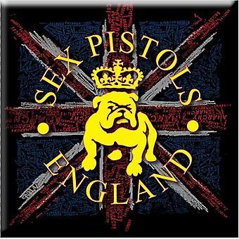 Sex Pistols Fridge Magnet Bull Dog & Flag new Official 76mm x 76mm