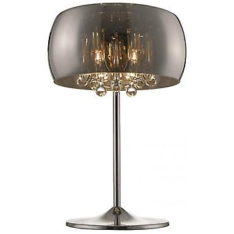 Ludlow Chrome Table Lamp 3 Lights
