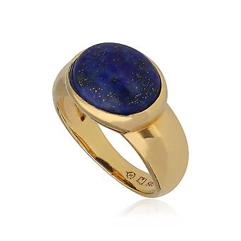 Kosmos Lapis Lazuli Cocktail Ring in Gold Plated Sterling Silver T0968R90E4