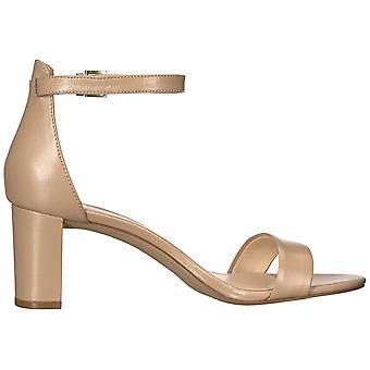 Yhdeksän West naisten Pruce nahka avoin toe erityinen tilaisuus nilkka hihna sandaalit