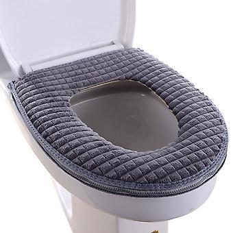 YANGFAN Winter Thickened Diamond Velvet Zipper Toilet Seat Cover