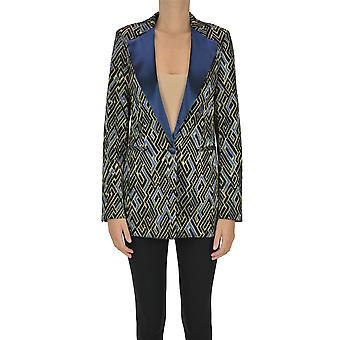 Semi-couture Ezgl426020 Women's Multicolor Cotton Blazer