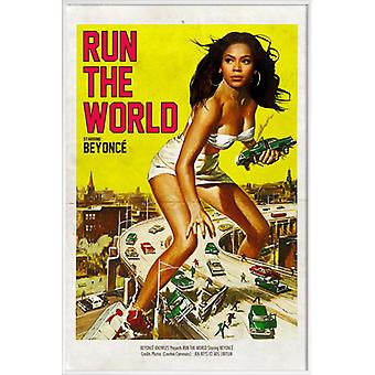 JUNIQE Print - Run the World - Beyonce Poster in Geel