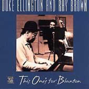 Ellington/Brown - celui-ci est pour l'importation USA Blanton [CD]