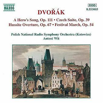 R. Dvorak - Dvor k: música de um herói; Suite Checa; Hussita Overture; Importação de março [CD] EUA Festival