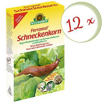 Sparset: 12 x NEWDORFF Ferramol® grão de caracol, 1 kg