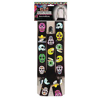 Bristol Novelty Unisex Adults Day Of The Dead Braces