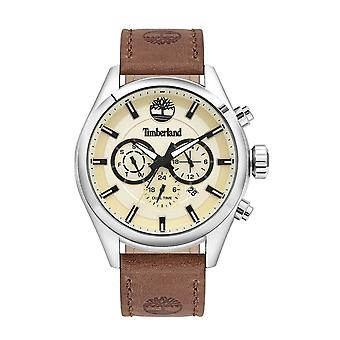 Timberland Watches Tbl.16062jys/14 Ashmont Brown Leather Strap Men's Chronograph Watch