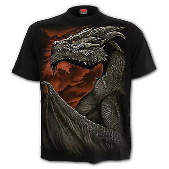 Spiraal-majestueuze Draco-mannen t-shirt