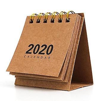 レトロな新年シンプルなデスクコイルのメモ帳クラフト紙カレンダー